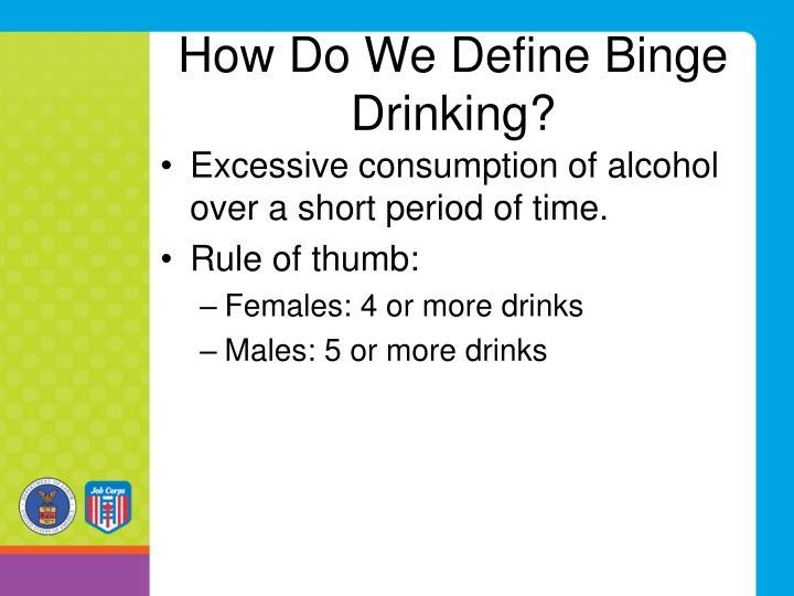 How Do We Define Binge Drinking?