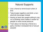 natural supports