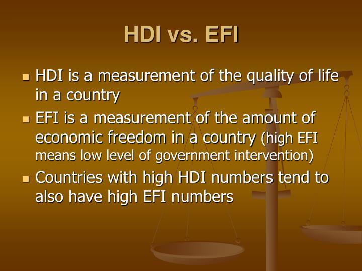 HDI vs. EFI