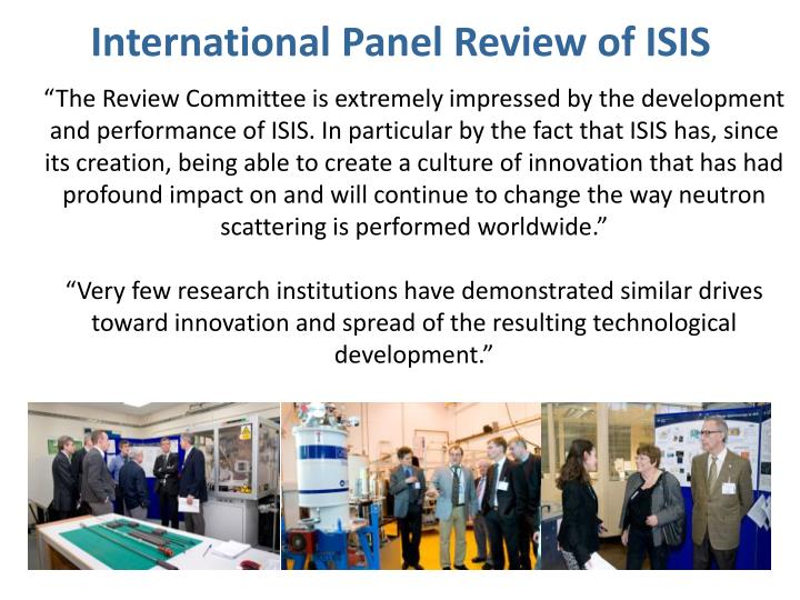 International Panel Review of ISIS
