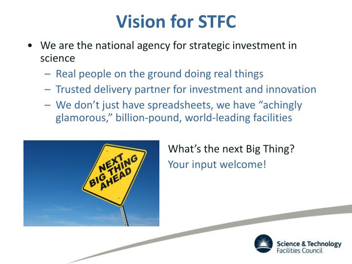 Vision for STFC