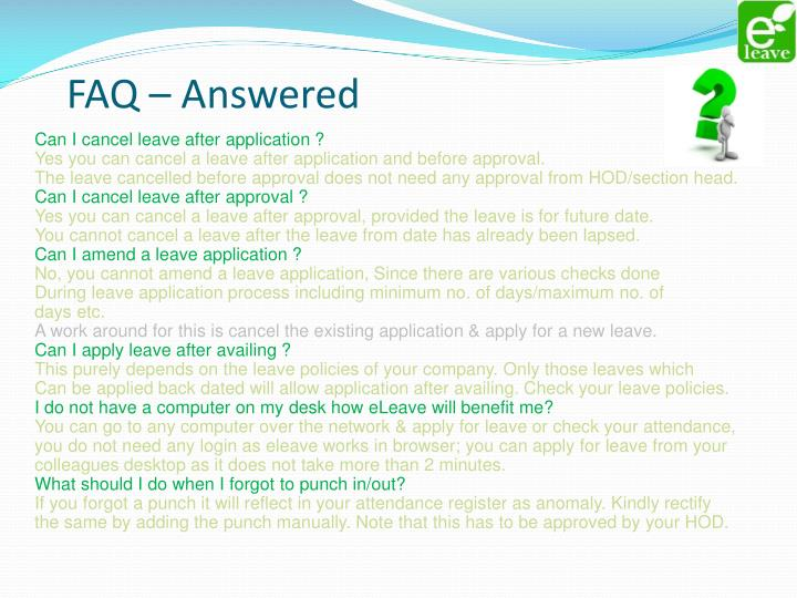 FAQ – Answered