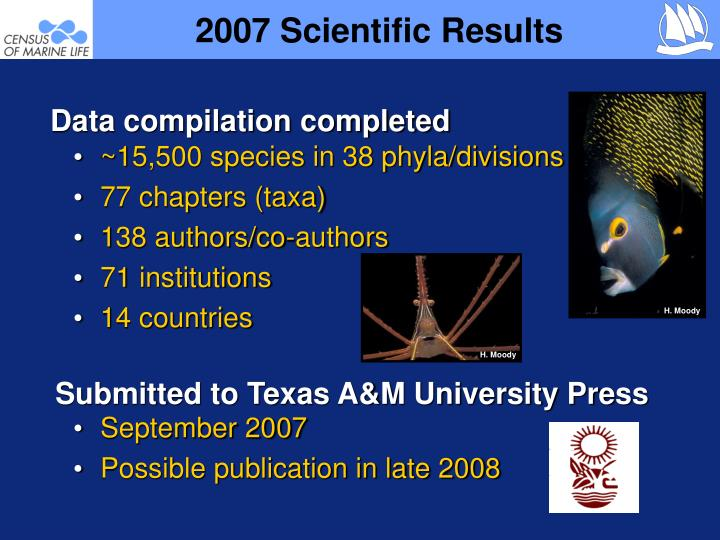 2007 Scientific Results