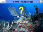 limits to knowledge