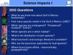 science impacts i