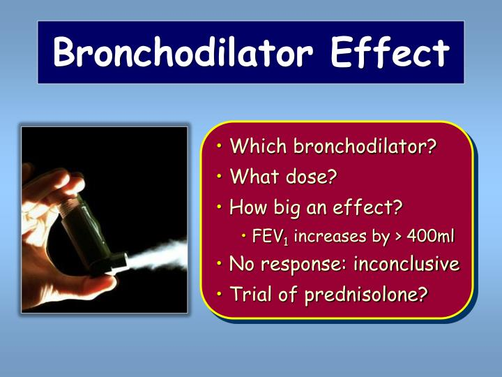 Bronchodilator Effect