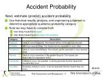 accident probability