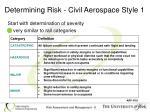 determining risk civil aerospace style 1