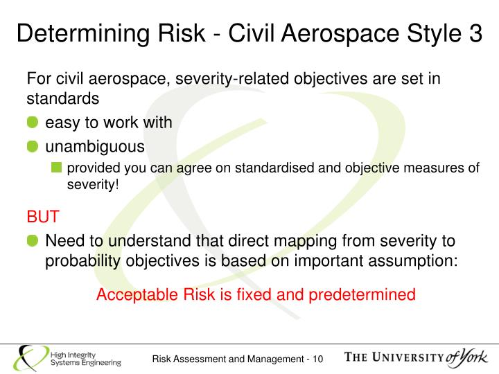 Determining Risk - Civil Aerospace Style 3