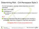 determining risk civil aerospace style 3