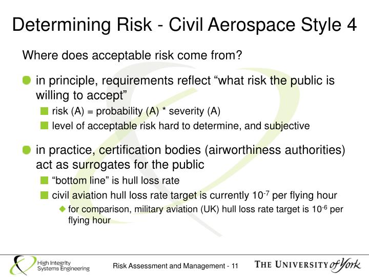 Determining Risk - Civil Aerospace Style 4