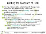 getting the measure of risk