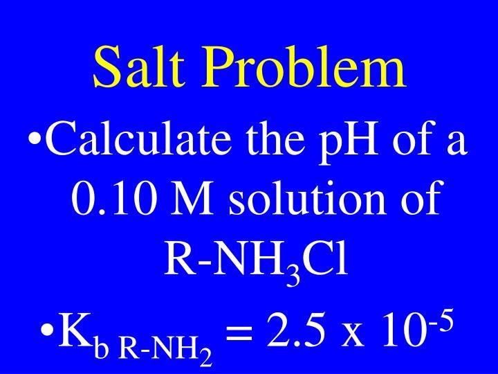 Salt Problem