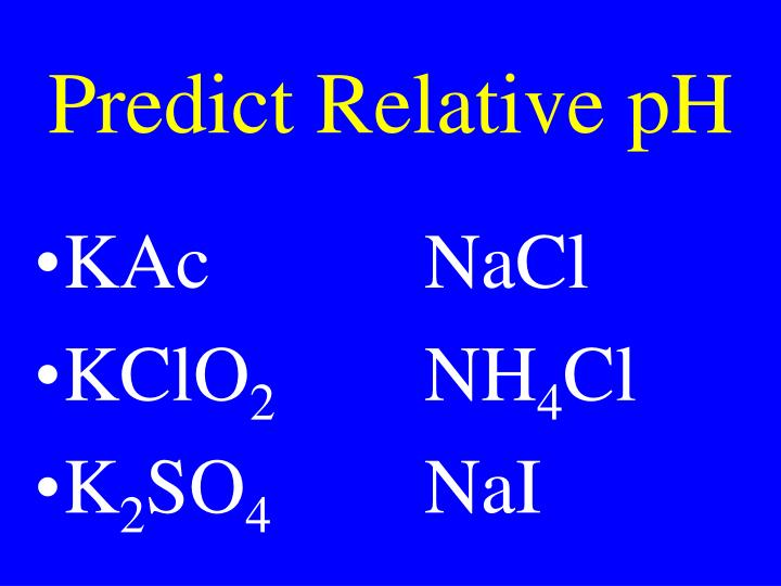 Predict Relative pH