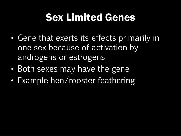 Sex Limited Genes