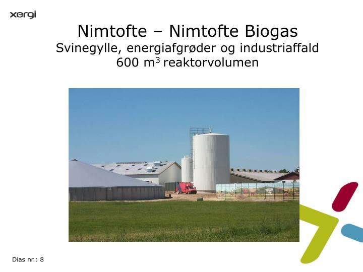 Nimtofte – Nimtofte Biogas