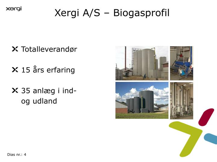 Xergi A/S – Biogasprofil