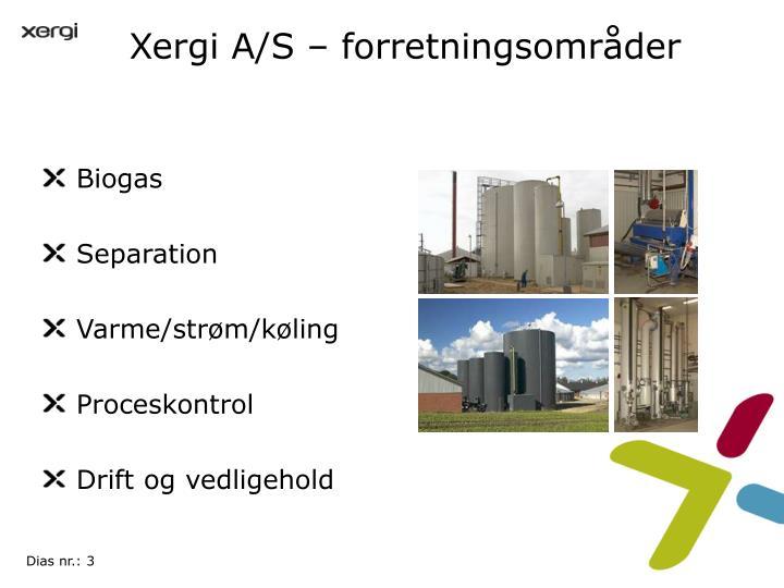 Xergi A/S – forretningsområder