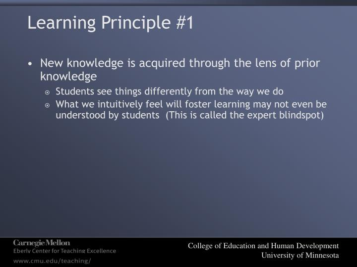 Learning Principle #1