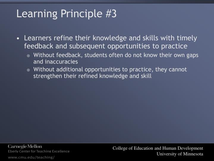 Learning Principle #3
