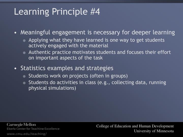 Learning Principle #4