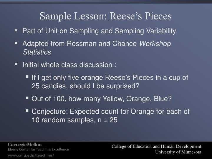 Sample Lesson: Reese's Pieces