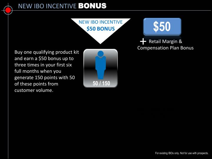 NEW IBO INCENTIVE