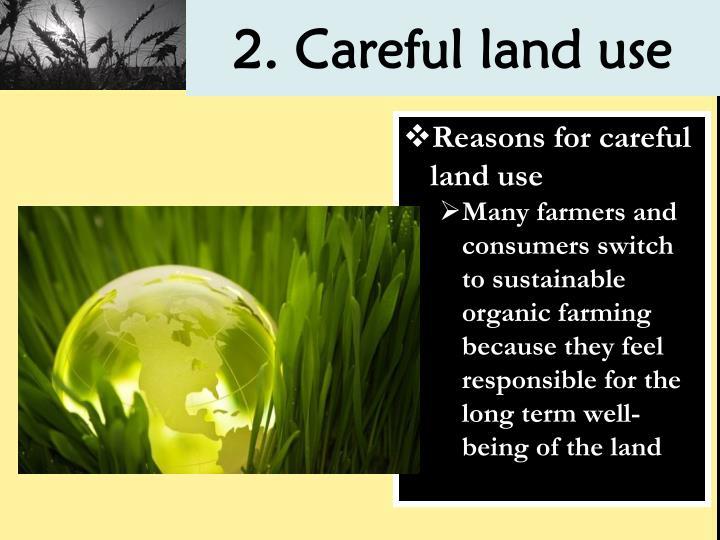 2. Careful land use