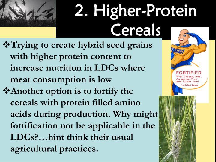 2. Higher-Protein Cereals