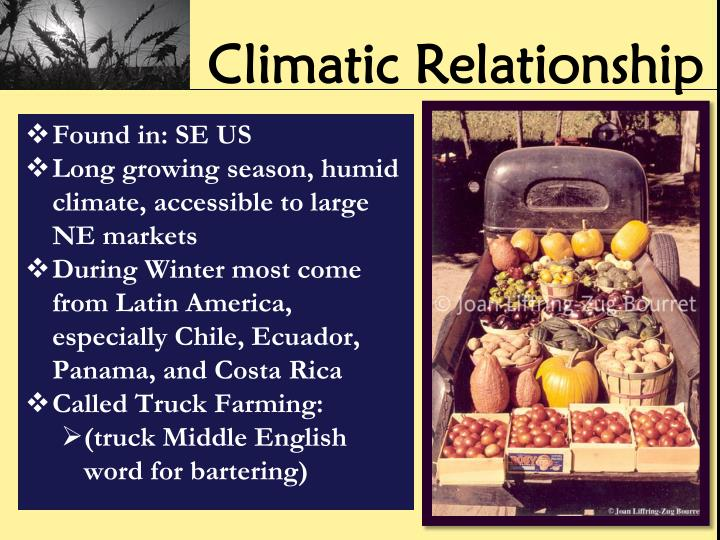 Climatic Relationship