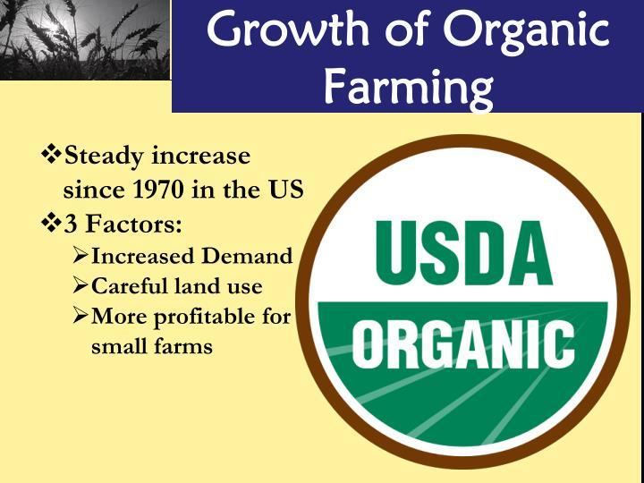 Growth of Organic Farming