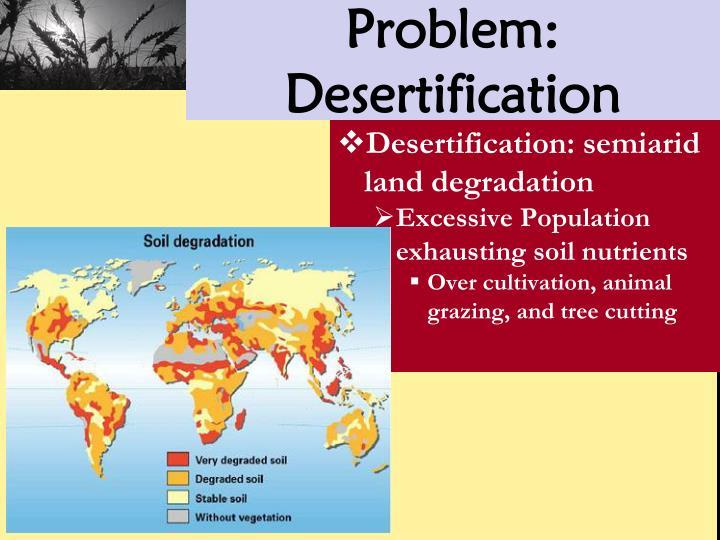 Problem: Desertification