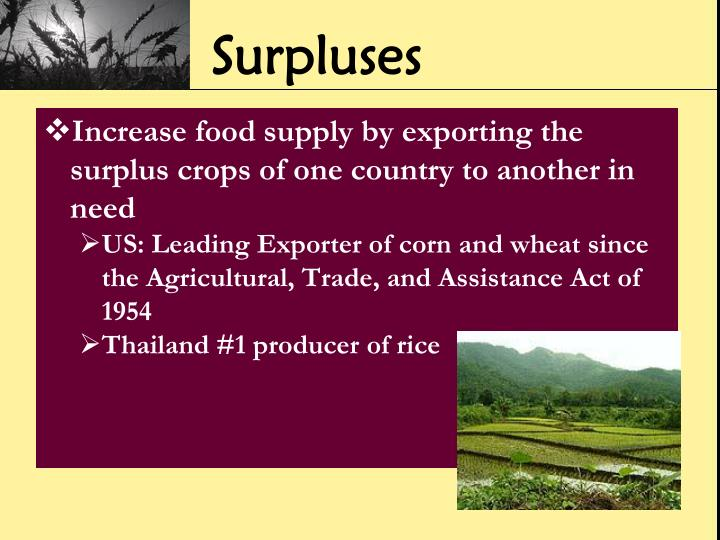 Surpluses