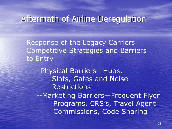 Aftermath of Airline Deregulation