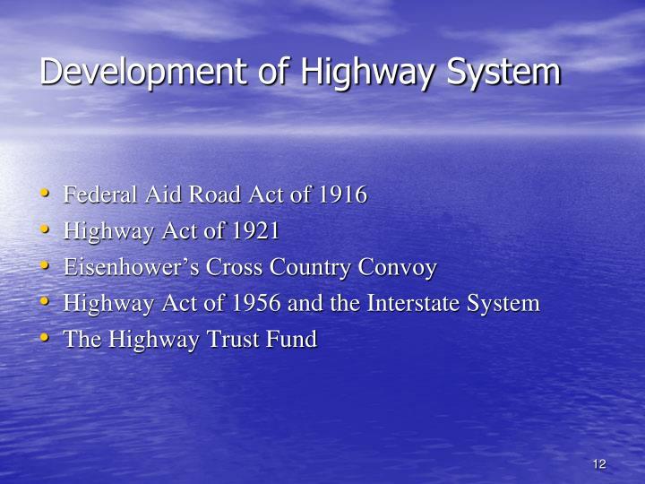 Development of Highway System