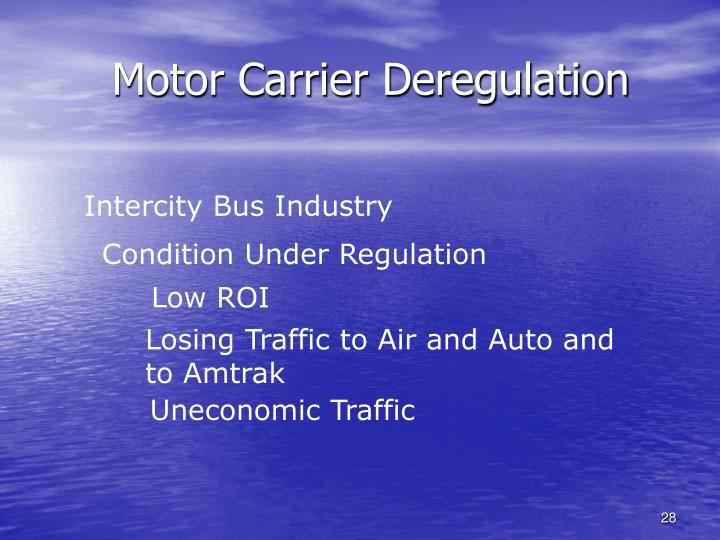 Motor Carrier Deregulation
