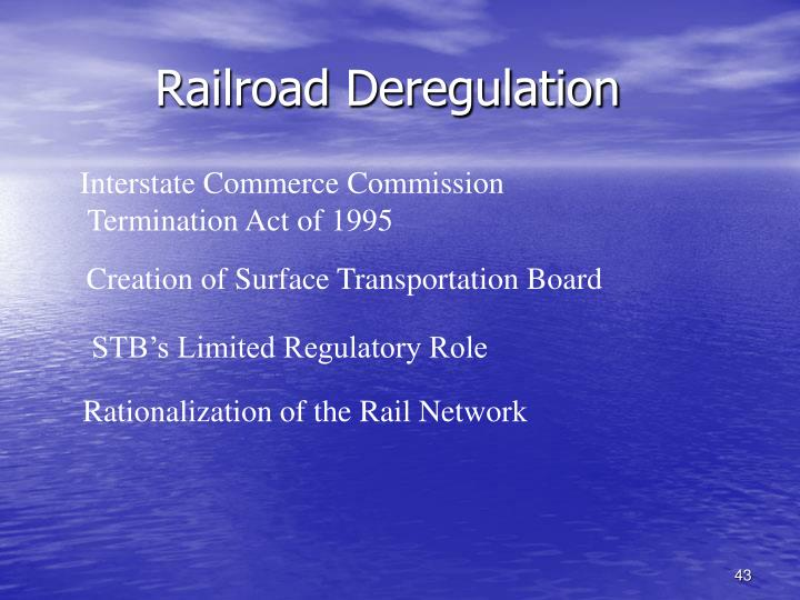 Railroad Deregulation