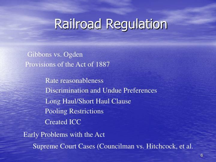 Railroad Regulation
