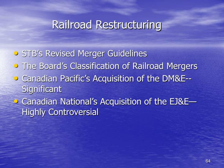 Railroad Restructuring