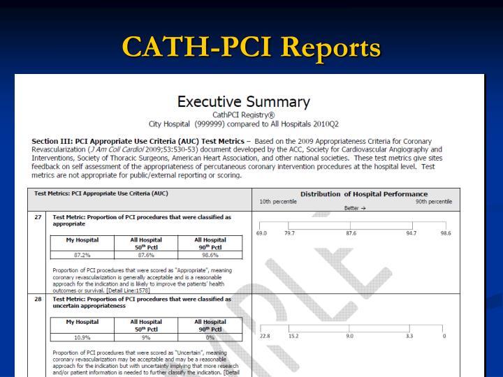CATH-PCI Reports