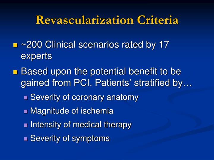 Revascularization Criteria