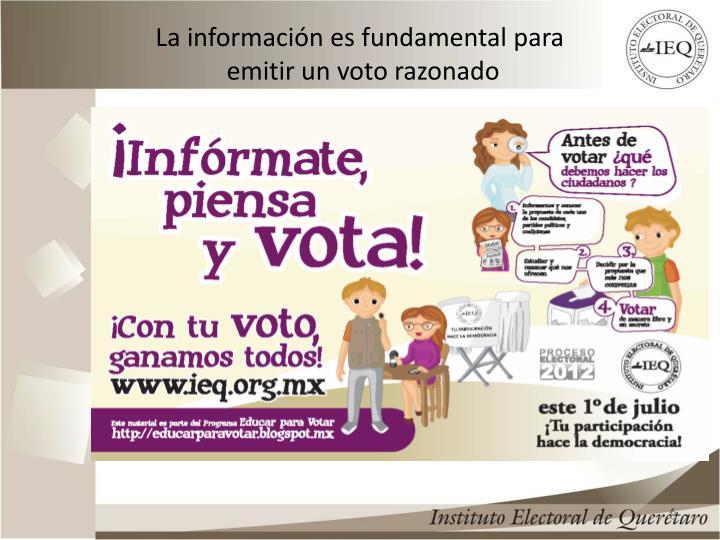 La información es fundamental para