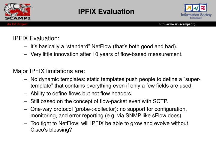 IPFIX Evaluation