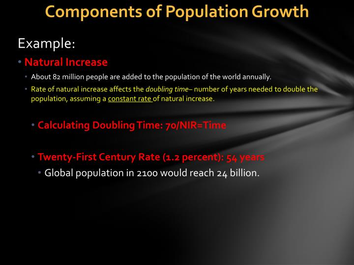 Components of Population Growth