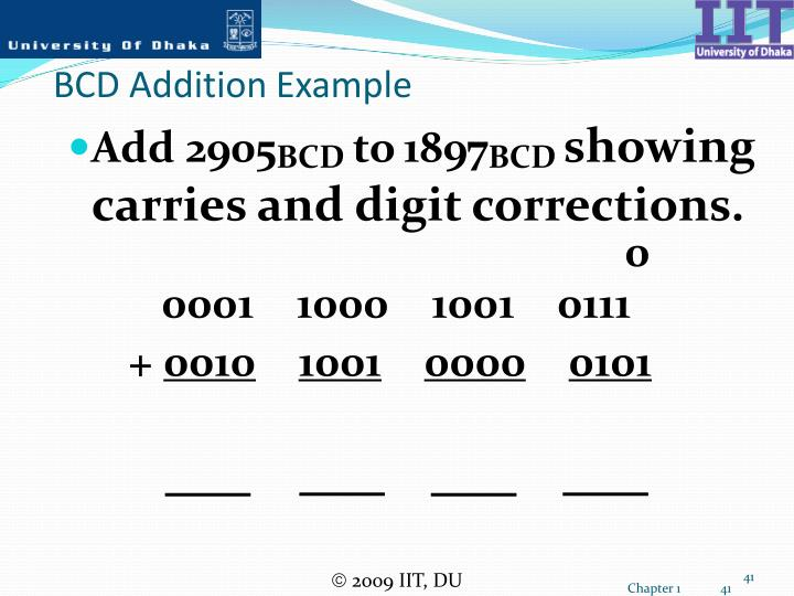BCD Addition Example