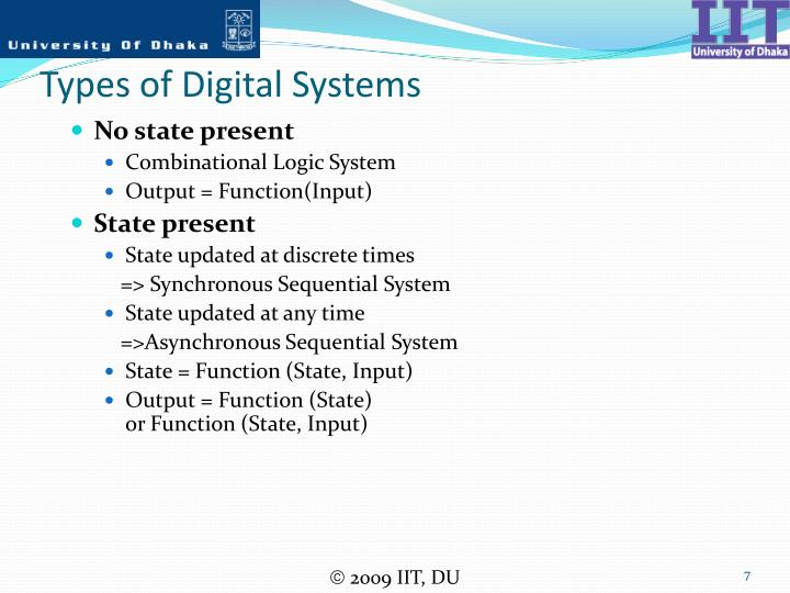 Types of Digital Systems