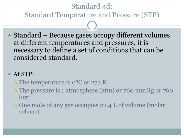 Standard 4d: