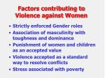 factors contributing to violence against women