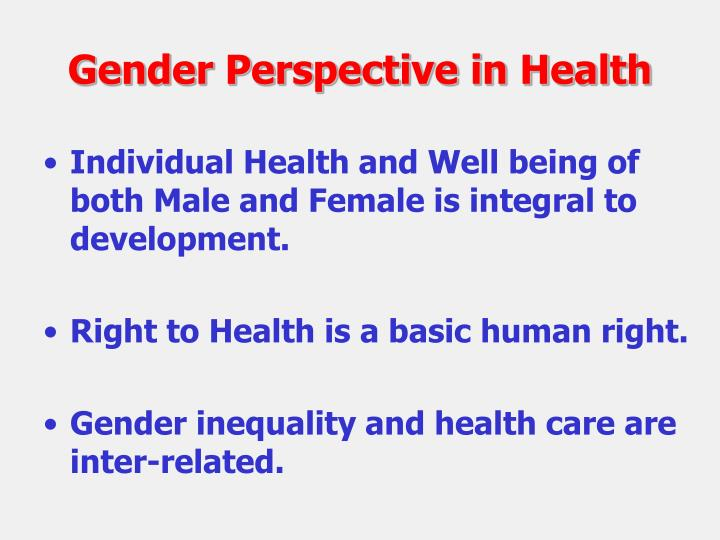 Gender Perspective in Health