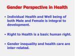gender perspective in health
